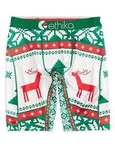 1e8da09c62f55 ETHIKA Holiday Buck Staple Mens Boxer Briefs Green Combo XLarge    Check  out this great