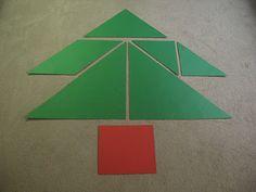 Tangram kerstboom