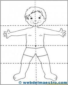 Resultado de imagen para figura humana rompecabezas
