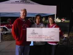 Thank You Vandalia..  The RAM Gridiron Challenge is complete and Hosick Motors owner Bryan Hosick was pleased to present a check from RAM Trucks to members of the Vandal's Sports Boosters Club Kim Well and Angela Reeter for $3,620.  Participants took a couple of minute ride in a new RAM Truck, and then RAM donated $20 for each test drive taken. Thank you to sports booster volunteers for their time and effort and RAM Trucks for their generous donation!