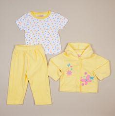 NB Butterfly 3pc Fleece Set - Teddy Boom Baby Sets $7.50