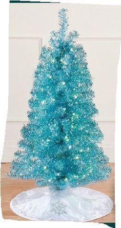 Pre Lit Silver Christmas Tree