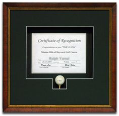 Custom Framed Certif