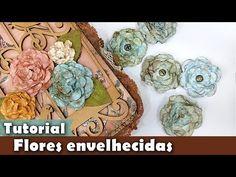 DIY   Faça Você Mesmo   Flores com Papel de Scrap   Livia Fiorelli   Life Artesanato - YouTube
