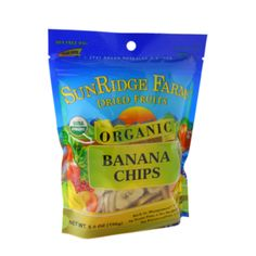 Just like whole bananas, banana chips have potassium and are fun to eat!  Banana Chips 5.5 oz - Oh My Green!