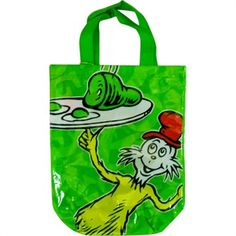 Dr Seuss Green Eggs and Ham Tote Bag