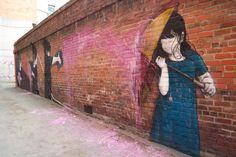 Auf dem Dunedin Street Art Trail: Shower (Künstler: Be Free, Australien) Urbane Kunst, Street Painting, French Artists, Types Of Art, Urban Art, Rue, Lovers Art, New Zealand, Graffiti
