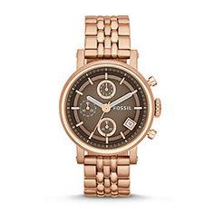 ES3494P - Original Boyfriend Three-Hand Stainless Steel Watch - Rose
