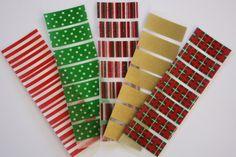 Christmas Erin Condren Life Planner washi tape stickers via Etsy