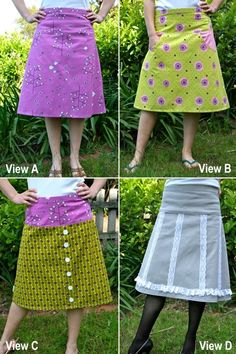 Pattern for making an A-Line skirt with lots of options