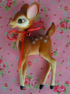 SALE...ONE....Vintage Bambi Style Deer Figurine
