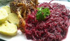 Karamelizované kysané červené  zelí s brusinkami. Side Dishes, Cabbage, Food And Drink, Vegetables, Eat, Recipes, Foods, Fine Dining, Food Food