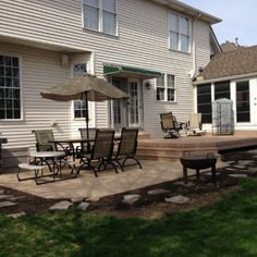 Square Patio Design By St. Charles, IL Patio Builder Archadeck Of  Chicagoland
