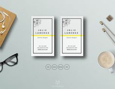 Fashion Business Card Template by This Paper Fox on @creativemarket
