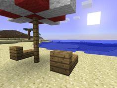 Minecraft Deck Chairs and Umbrella