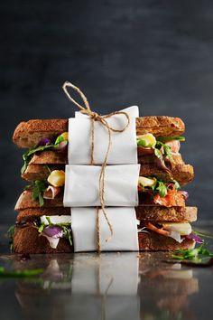 """delicious-designs: """" Brie, Prosciutto, Caramelized Onion, & Arugula Sandwiches  """""""