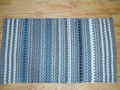 Wedding in blue, Krokbragd weave, wool yarn