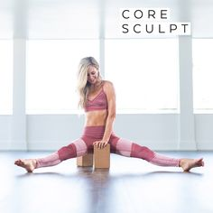 Strengthen and tone your entire core with this high-energy, seven-day workout series. This series will tighten and tone your entire core with high-rep, core-blasting exercises like side plank lifts, reverse crunches, and floating staff on blocks.  Pole Fitness, Physical Fitness, Fitness Classes, Tai Chi, Free Music For Videos, Reverse Crunches, Gymnastics Workout, Aerobics Workout, Fitness Workout For Women