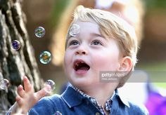 Prince George of Cambridge plays with bubbles at a children's party for Military families during the Royal Tour of Canada on September 29, 2016 in Victoria, Canada. Prince William, Duke of Cambridge, Catherine, Duchess of Cambridge, Prince George and Princess Charlotte are visiting Canada as part of an eight day visit to the country taking in areas such as Bella Bella, Whitehorse and Kelowna  (Photo by Chris Jackson - Pool/Getty Images)