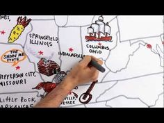 Tour of the 50 States video--the whole map is hand-drawn by an artist as you watch! This would also incorporate well with Draw Write Now, The Core, or other curricula that incorporate map drawing by heart.