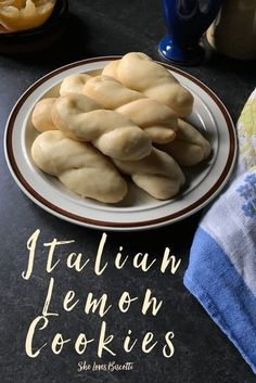 Another Simple Italian Lemon Cookies on a plate.