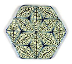 Geometric Star Polymer Clay Cane by Sharp Art by Dawna, via Flickr