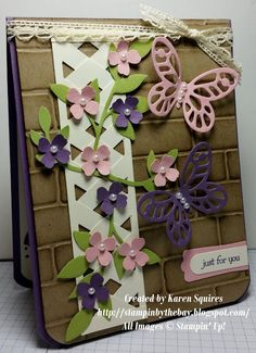 Stampin' By The Bay: Chevron Border Punch makes Lattice and Brick Wall Embossing Folder