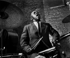 Art Blakey, Paris, France, 1958 © Herman Leonard