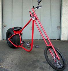 Big Red chopper bike from California - Atomic Zombie builders gallery Recumbent Bicycle, Cruiser Bicycle, Retro Rad, Velo Design, Lowrider Bicycle, Hardtail Mountain Bike, Drift Trike, Push Bikes, Chopper Bike
