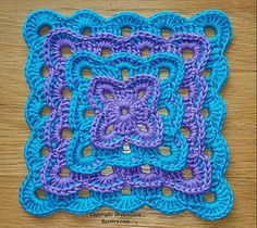 You can use any hook size or yarn to make this square. You can make a few rounds in cotton for a coaster or continue in an acrylic or wool blend until you have a baby blanket or king size bedspread. Squares may also be sewn together for a patchwork style blanket. There is no required gauge for this piece, and it would work wonderfully for a stash buster