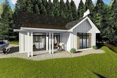 Cozy Cottage with Bunk Room - 62712DJ | Architectural Designs - House Plans