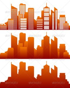 City Skyline — Vector EPS #building #elements • Available here → https://graphicriver.net/item/city-skyline/3082136?ref=pxcr