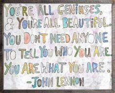 Sugarboo Designs John Lennon You're All Geniuses Wood Art Print