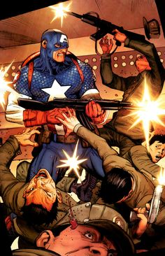 Ultimate Captain America by Ron Garney