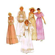 1970s Brides Dress Pattern McCalls 6405 Vintage by JFerrariDesigns, $12.00