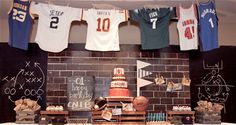 Caleb's Vintage All-Star Sports Themed Party – Dessert Tablescape