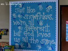 Season board for winter classroom bulletin board ideas Bible Bulletin Boards, Christian Bulletin Boards, Winter Bulletin Boards, Preschool Bulletin Boards, Bullentin Boards, Sunday School Rooms, Sunday School Classroom, Sunday School Crafts, Preschool Christmas
