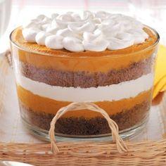 Pumpkin Gingerbread Trifle Recipe thanksgiving-fall-food-ideas