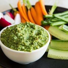 This pesto has a bit of a twist, using cashew nuts and mint and coriander instead of pine nuts and basil. It& dairy-free (without the parmesan) too. Raw Food Recipes, Cooking Recipes, Healthy Recipes, Delicious Recipes, Savoury Recipes, Food Tips, Yummy Yummy, Salad Recipes, Dessert Recipes