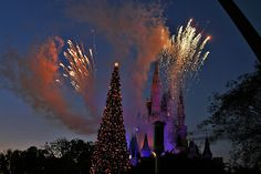 Fireworks over castle at Christmas | by twg1942