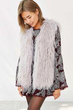 MINKPINK Endless Shaggy Faux Fur Vest