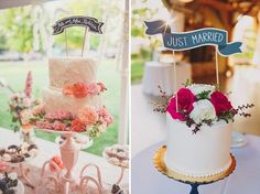 Cake toppers mensajes JUST MARRIED
