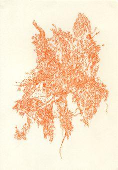 Untitled, 2014 14.85 x 21 cm Gel ink on paper