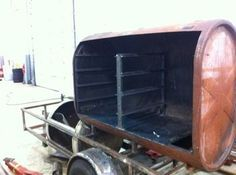 Image result for oil tank smoker on wheels