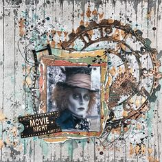 Nadine Carlier: Alice in Wonderland Layout - Creative Embellishments January 2017 Challenge