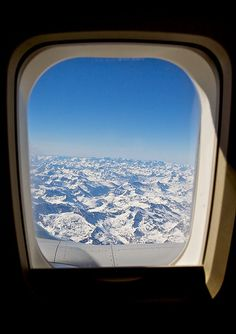 Looking out through the window seat