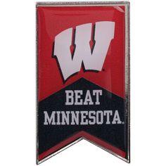 Wisconsin Badgers Beat Minnesota Rivalry Banner Pin - $6.99