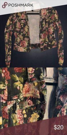 b9d151eb8f Floral Jean Jacket Fit to go up to your mid torso. Super cute! Fits.  Poshmark
