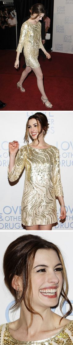 LOOK DO DIA ::: ANNE HATHAWAY