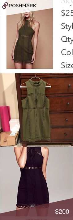 """Free People Body con dress Olive green Free people bodycon dress. Only worn once and is a size medium. I'm 5'4"""" and it was right above my knee caps but looks better with heels Free People Dresses Mini"""